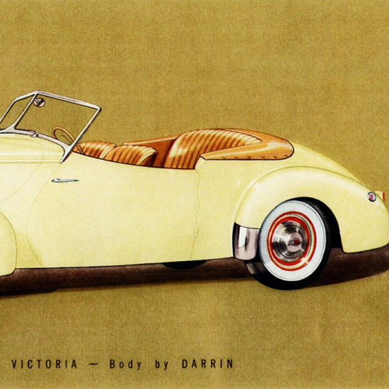Detail Of Packard Super 8 One Eighty Convertible Victoria 1940 | Best of Vintage Ad Art 1891-1970