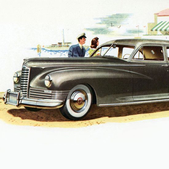 Detail Of Packard Super Clipper N Touring Sedan 1947 | Best of 1940s Ad and Cover Art