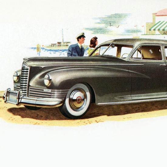 Detail Of Packard Super Clipper N Touring Sedan 1947 | Best of Vintage Ad Art 1891-1970