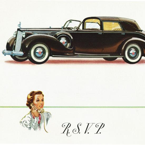 Detail Of Packard Twelve All Weather Cabriolet 1938   Best of Vintage Ad Art 1891-1970