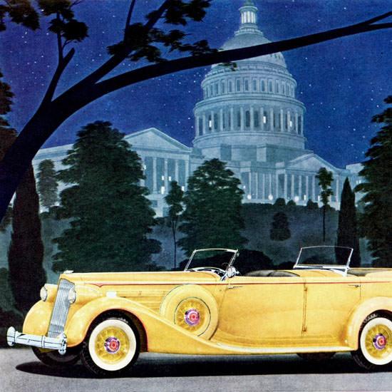 Detail Of Packard Twelve Sport Phaeton 1936 | Best of Vintage Ad Art 1891-1970