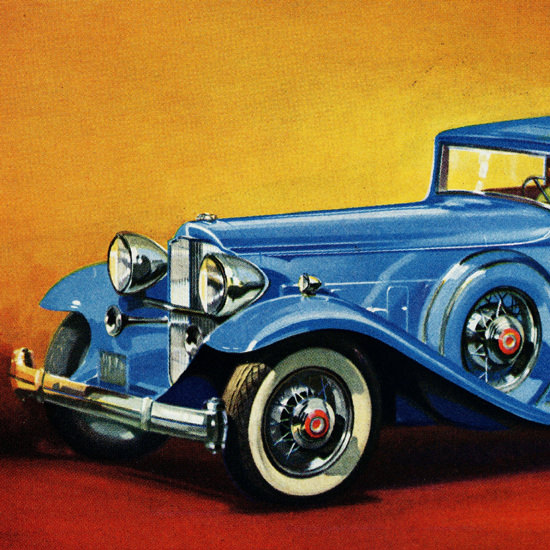 Detail Of Packard Twin Six Boss Of The Road 1932 | Best of Vintage Ad Art 1891-1970