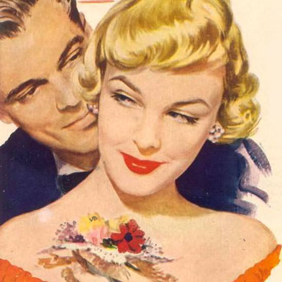 Detail Of Palmolive Soap Beauty Lather 1949 | Best of Vintage Ad Art 1891-1970