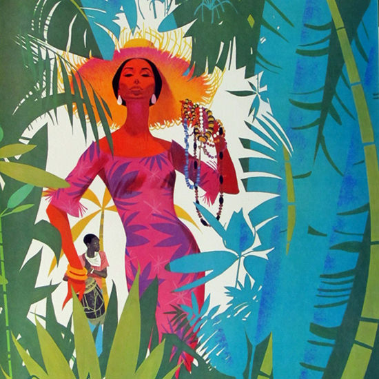 Detail Of Pan American Caribbean 1965 | Best of Vintage Ad Art 1891-1970