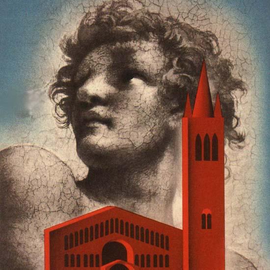 Detail Of Parma E La Sua Provincia Church Italy Italia | Best of Vintage Ad Art 1891-1970