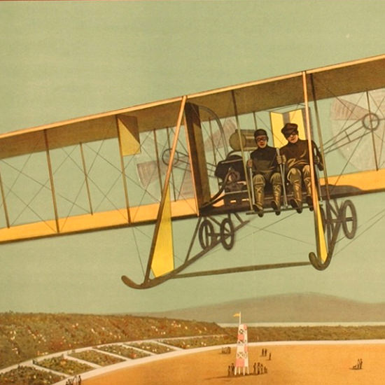 Detail Of Patterson Aviator Detroit Michigan 1916 | Best of Vintage Ad Art 1891-1970