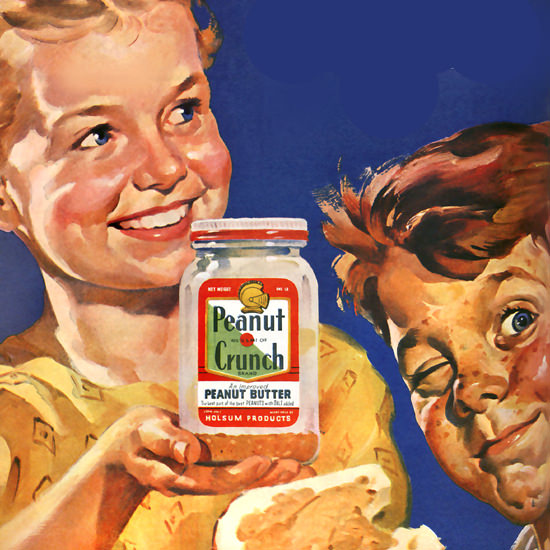 Detail Of Peanut Crunch Holsum Look Mommy | Best of Vintage Ad Art 1891-1970