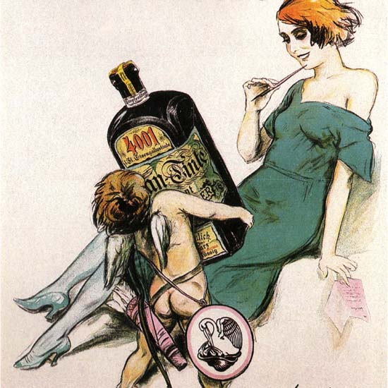 Detail Of Pelikan Tinte 4001 Germany Deutschland Ink | Best of Vintage Ad Art 1891-1970