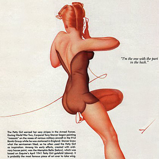 Detail Of Petty Girl on B-17 Bomber Memphis Belle George Petty | Best of Vintage Ad Art 1891-1970
