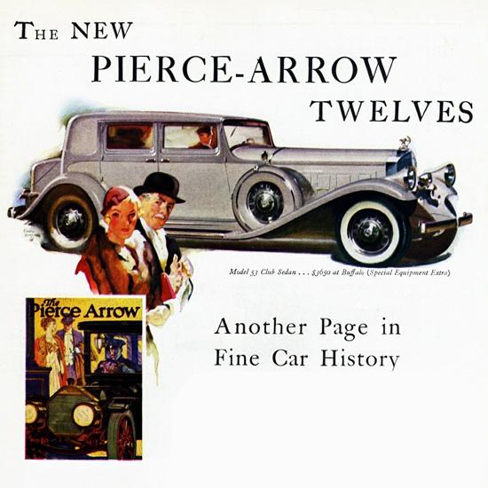 Detail Of Pierce Arrow Model 53 Club Sedan 1932 | Best of Vintage Ad Art 1891-1970