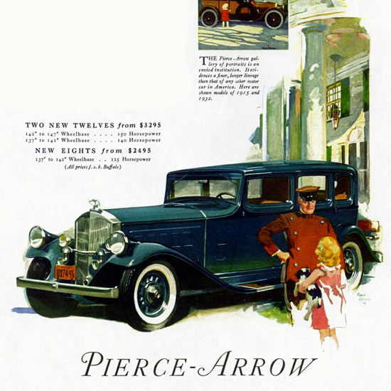 Detail Of Pierce Arrow Twelve Sedan 1932 Prestige | Best of Vintage Ad Art 1891-1970