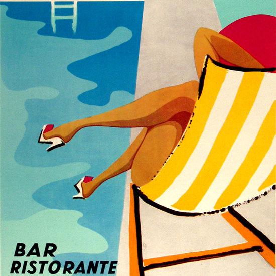 Detail Of Piscina Di Sarteano Siena Bar Ristorante 1962   Best of Vintage Ad Art 1891-1970