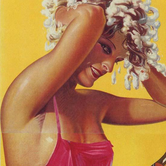 Detail Of Pixavon Shampoon Austria Shampoo Girl | Best of Vintage Ad Art 1891-1970