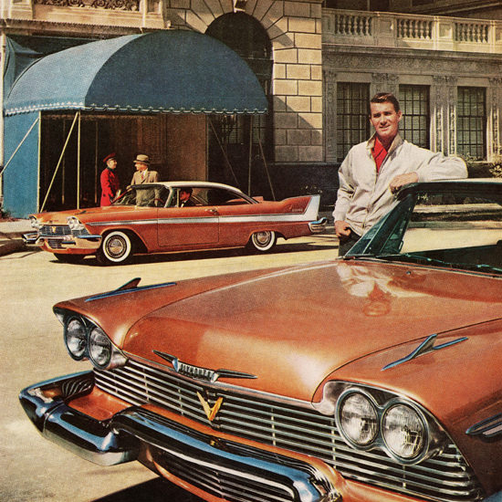 Detail Of Plymouth Belvedere 1958 Rich Mans Kind | Best of Vintage Ad Art 1891-1970