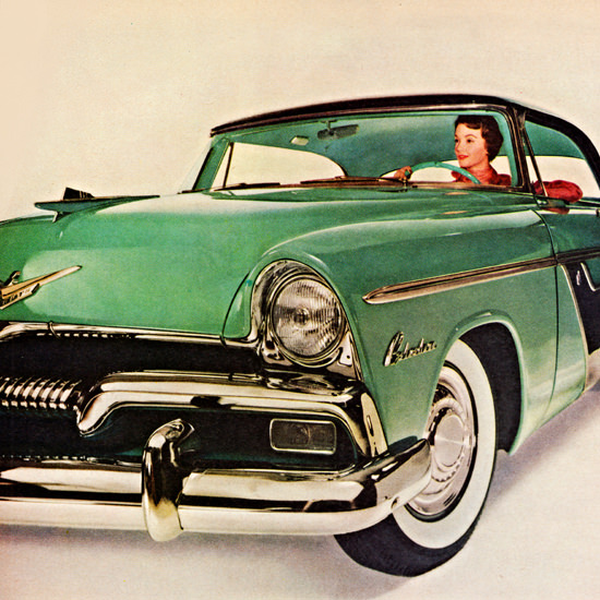Detail Of Plymouth Belvedere Sport 1955 Biggest Most | Best of Vintage Ad Art 1891-1970