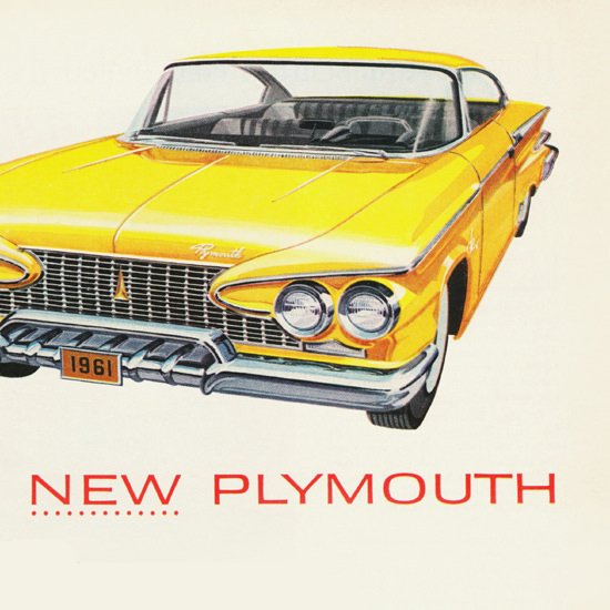 Detail Of Plymouth Canada 1961 | Best of Vintage Ad Art 1891-1970