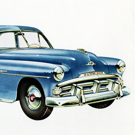 Detail Of Plymouth Cranbrook Club Coupe 1952 | Best of Vintage Ad Art 1891-1970