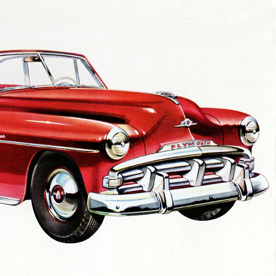 Detail Of Plymouth Cranbrook Conv Club Coupe 1952 | Best of Vintage Ad Art 1891-1970