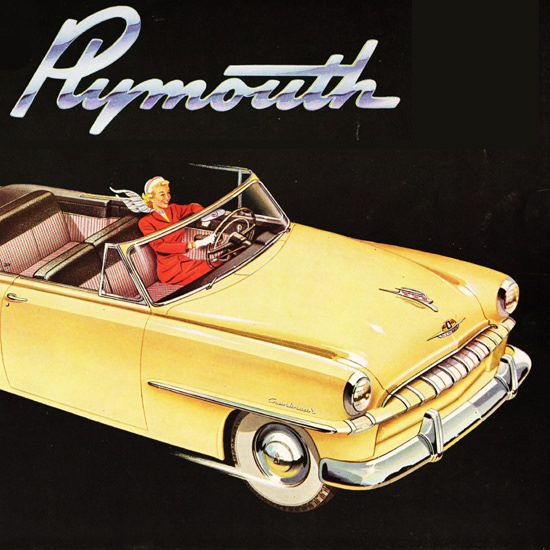 Detail Of Plymouth Cranbrook Conv Club Coupe 1953 | Best of Vintage Ad Art 1891-1970