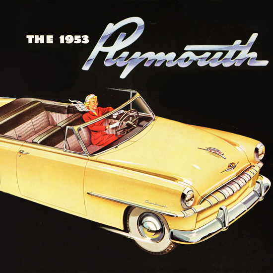 Detail Of Plymouth Cranbrook Convertible Club 1953 | Best of Vintage Ad Art 1891-1970