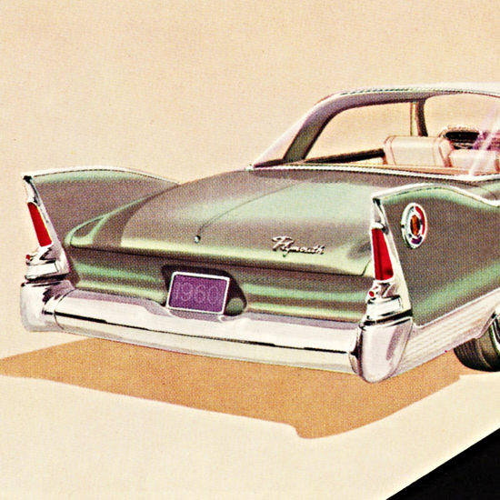 Detail Of Plymouth Fury Hardtop 1960 UniBody | Best of Vintage Ad Art 1891-1970