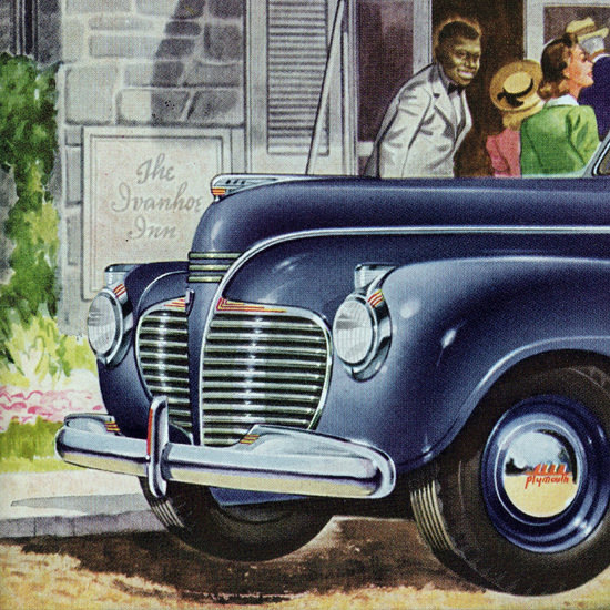 Detail Of Plymouth Special DeLuxe 1941 Brand New Zest | Best of Vintage Ad Art 1891-1970
