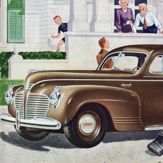 Detail Of Plymouth Special DeLuxe 7 P Sedan 1941 Luxury | Best of Vintage Ad Art 1891-1970
