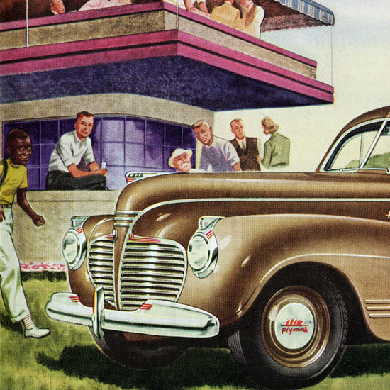 Detail Of Plymouth Special DeLuxe Coupe 1941 Smartness | Best of Vintage Ad Art 1891-1970