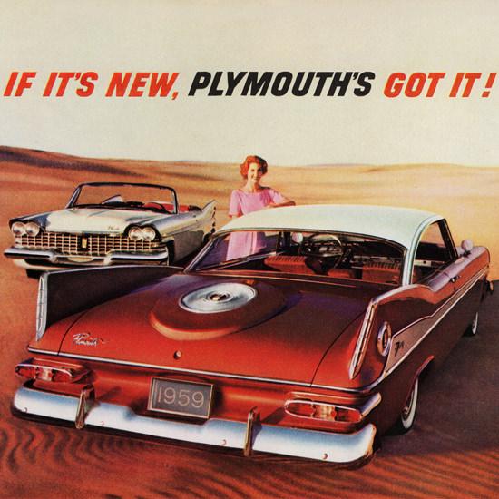Detail Of Plymouth Sport Fury N Convertible 1959 Desert | Best of Vintage Ad Art 1891-1970