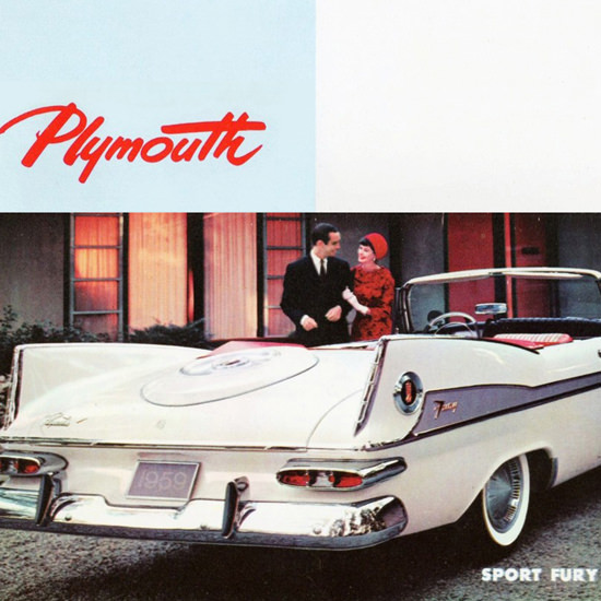 Detail Of Plymouth Sport Fury V8 Convertible 1959 | Best of Vintage Ad Art 1891-1970