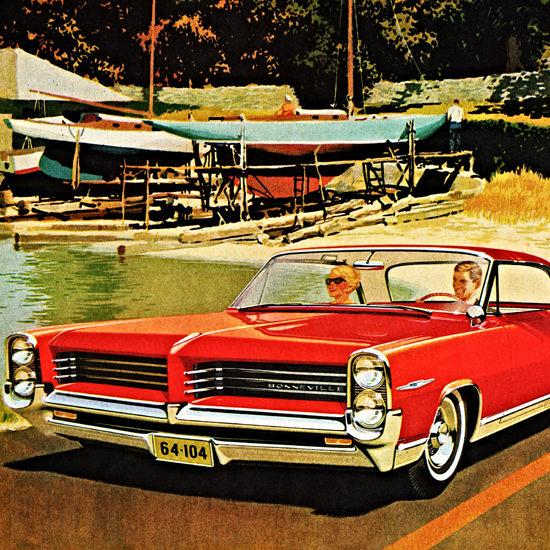 Detail Of Pontiac Bonneville Sports Coupe 1964 Almost | Best of Vintage Ad Art 1891-1970