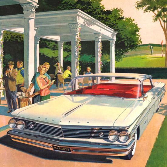 Detail Of Pontiac Bonneville Vista Spirit 1960 Wide Track   Best of Vintage Ad Art 1891-1970