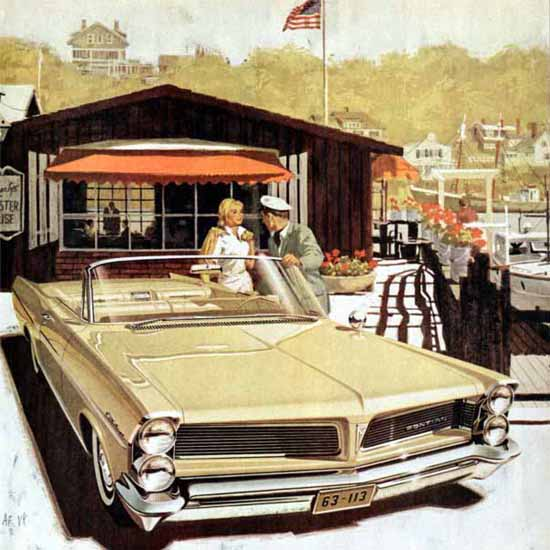 Detail Of Pontiac Catalina 1963 Harbor | Best of Vintage Ad Art 1891-1970