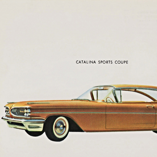 Detail Of Pontiac Catalina Sports Coupe 1959 | Best of Vintage Ad Art 1891-1970