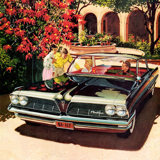 Detail Of Pontiac Catalina Vista 4 Door Hardtop 1961 | Best of Vintage Ad Art 1891-1970