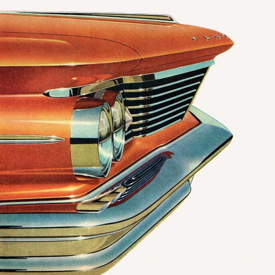 Detail Of Pontiac Fresh Point Of View 1960 | Best of Vintage Ad Art 1891-1970