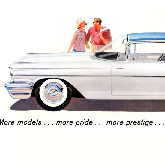 Detail Of Pontiac Parisienne Sport Coupe White B | Best of Vintage Ad Art 1891-1970
