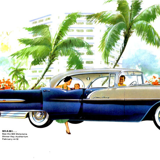 Detail Of Pontiac Star Chief 4 Door Catalina 1956 | Best of Vintage Ad Art 1891-1970