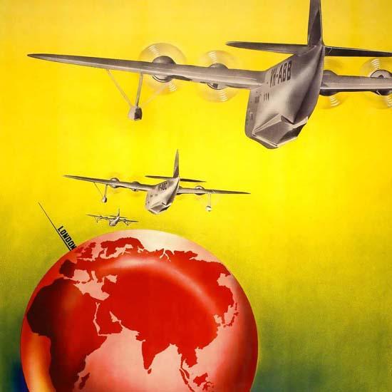 Detail Of Qantas Empire Aiways 1935 | Best of Vintage Ad Art 1891-1970