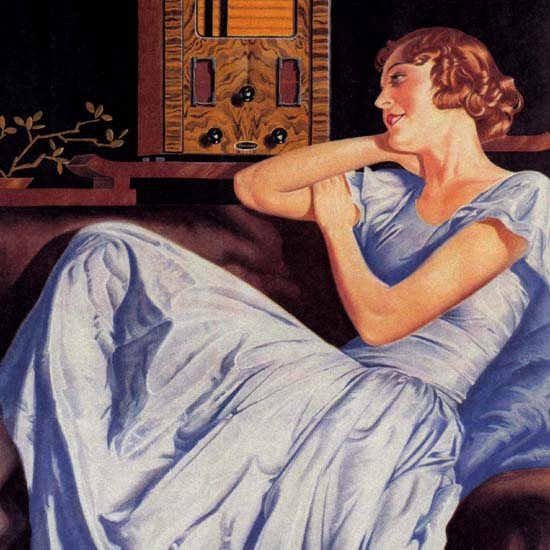 Detail Of Radio Girl Berliner Standard 3-Roehren Superhet | Best of Vintage Ad Art 1891-1970