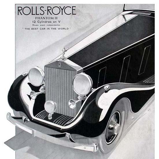 Detail Of Rolls Royce Phantom III 1935 | Best of Vintage Ad Art 1891-1970