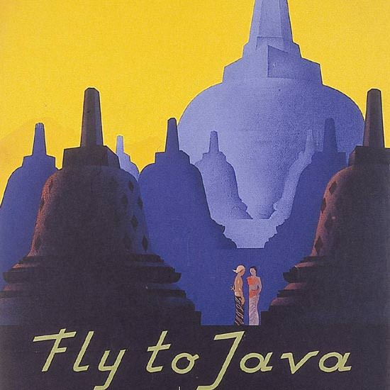Detail Of Royal-Netherlands-Indies-Airways Java 1938 B | Best of Vintage Ad Art 1891-1970