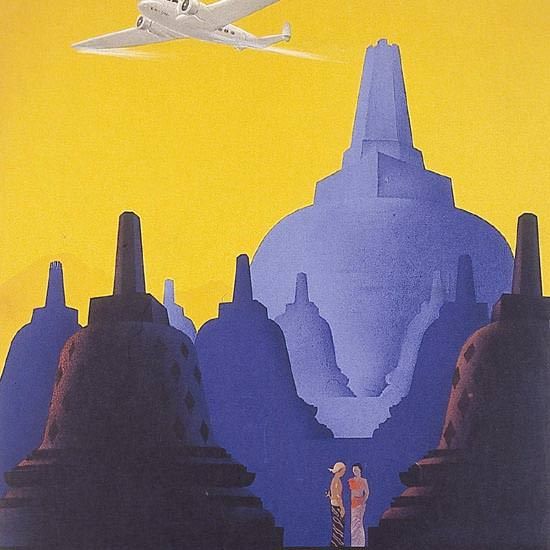 Detail Of Royal-Netherlands-Indies-Airways Java 1938 | Best of Vintage Ad Art 1891-1970