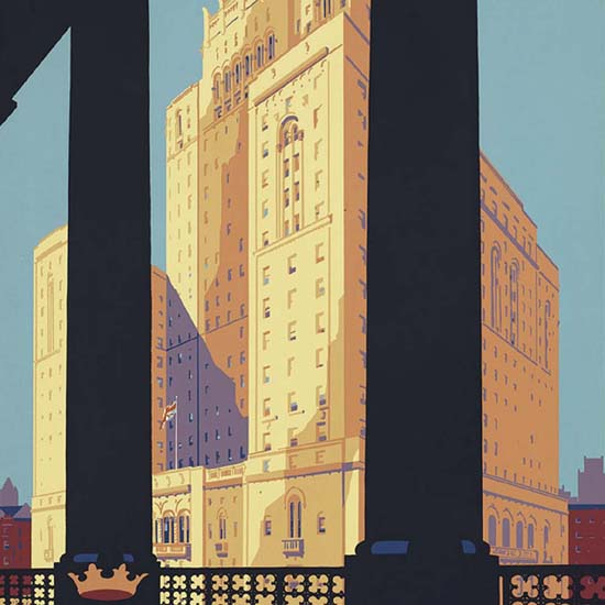Detail Of Royal York Toronto Largest Hotel British Empire | Best of Vintage Ad Art 1891-1970