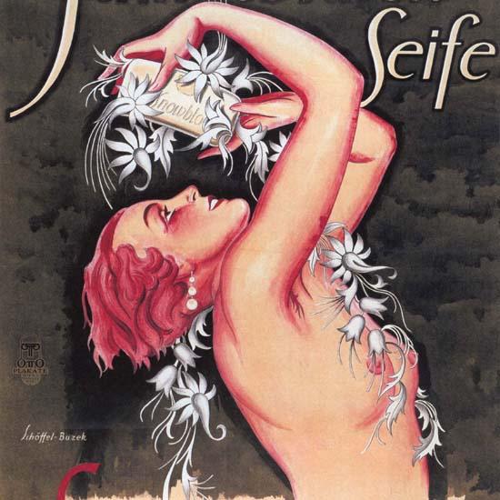 Detail Of Schneeblueten-Seife Snow-Blossom Nude Austria | Best of Vintage Ad Art 1891-1970