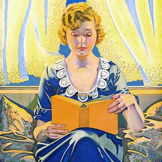 Detail Of Scranton Maytime Is Curtain Time 1923 Coles Phillips | Best of 1920s Ad and Cover Art