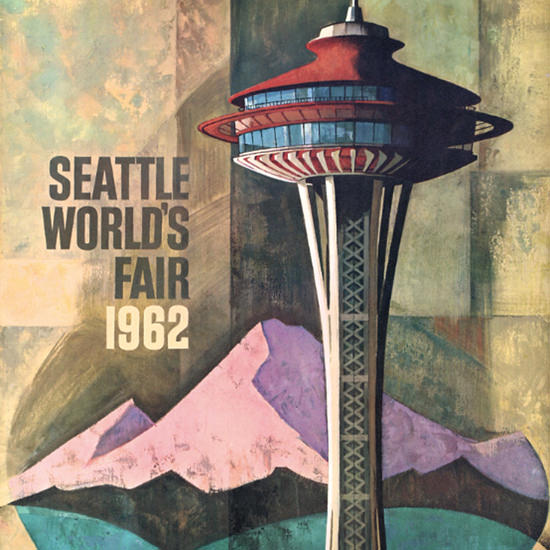 Detail Of Seattle Worlds Fair 1962 Harry Bonath | Best of Vintage Ad Art 1891-1970