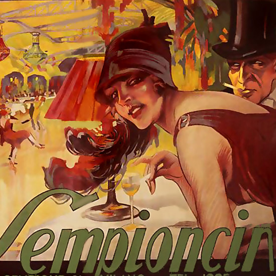 Detail Of Sempioncino Variete Milano | Best of Vintage Ad Art 1891-1970
