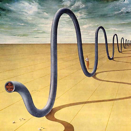 Detail Of Shell Salvator Dali Wire And Cable Co 1958 | Best of Vintage Ad Art 1891-1970