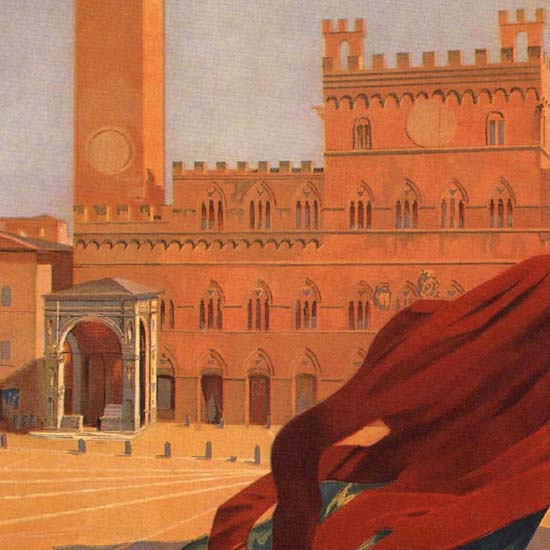 Detail Of Siena Italy Italia B | Best of Vintage Ad Art 1891-1970